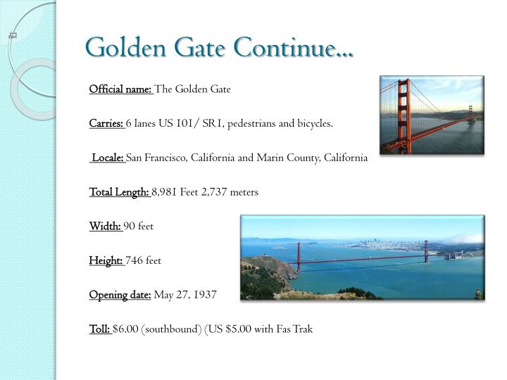 Golden Gate Continue...