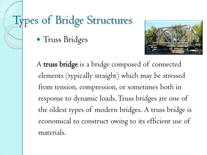 Types of Bridge Structures