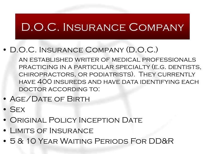 D.O.C. Insurance Company