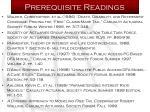 prerequisite readings