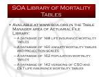 soa library of mortality tables