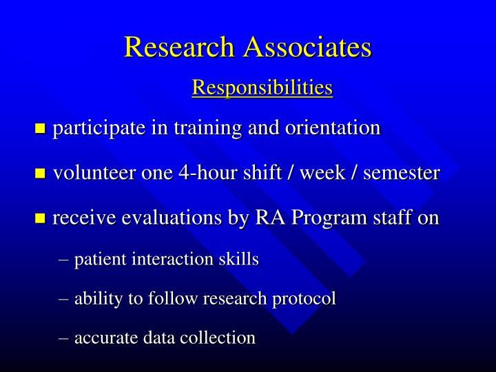 Research Associates