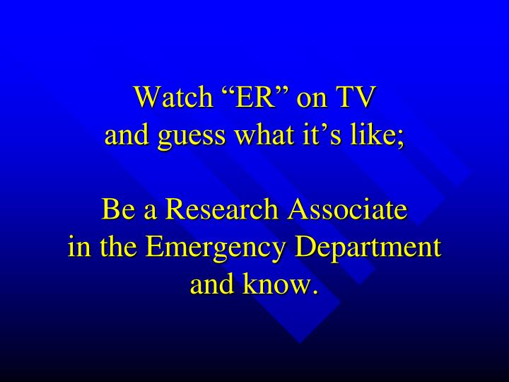 "Watch ""ER"" on TV"