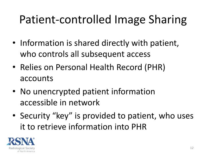 Patient-controlled Image Sharing