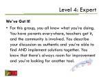 level 4 expert