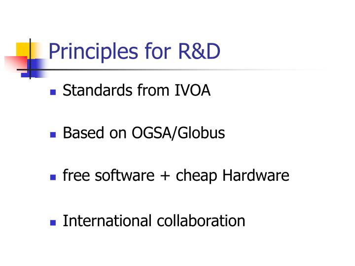 Principles for R&D