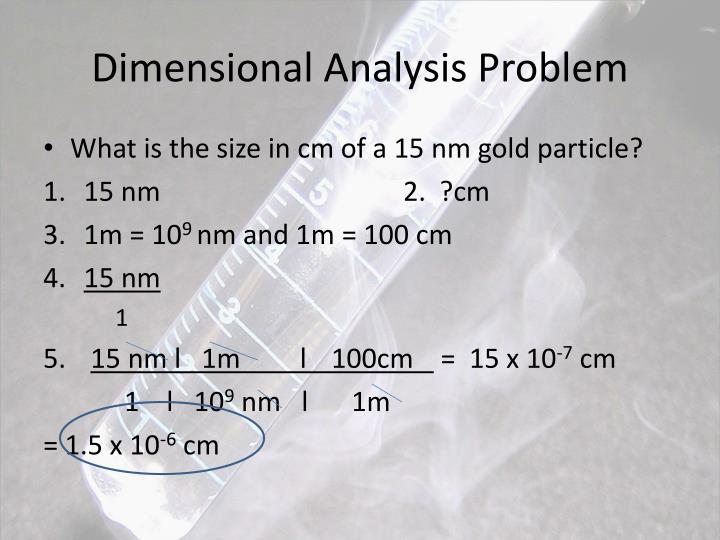 Dimensional Analysis Problem