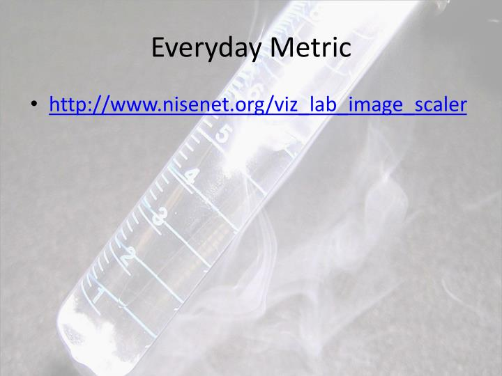 Everyday metric