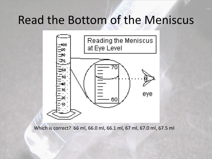 Read the Bottom of the Meniscus
