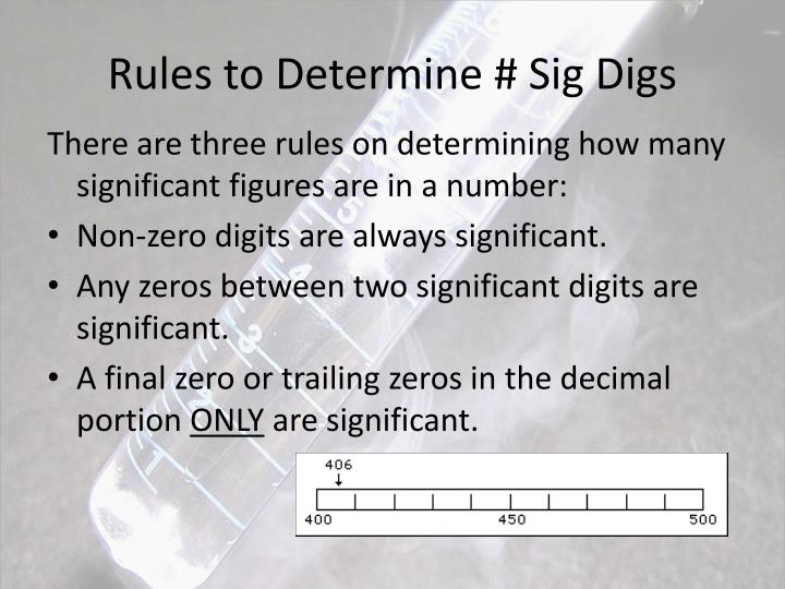 Rules to Determine # Sig Digs