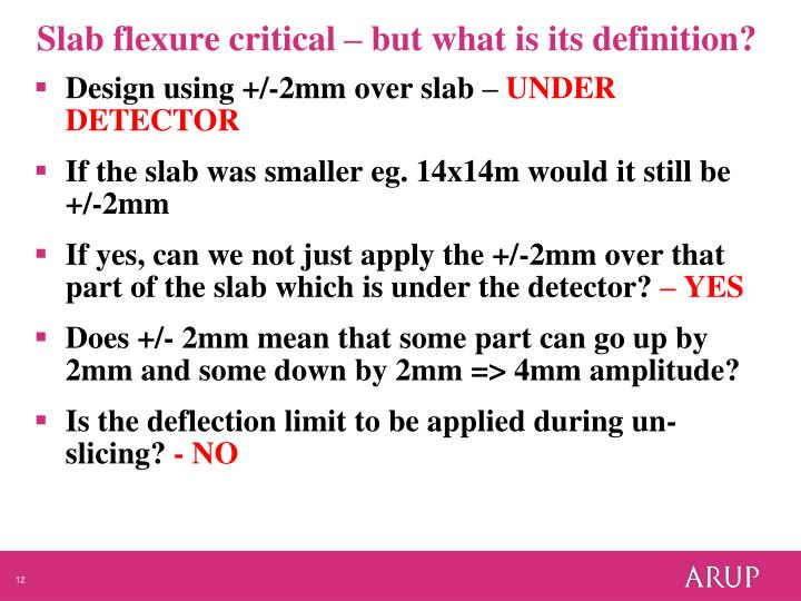 Slab flexure critical – but what is its definition?