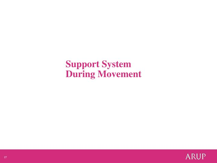 Support System During Movement