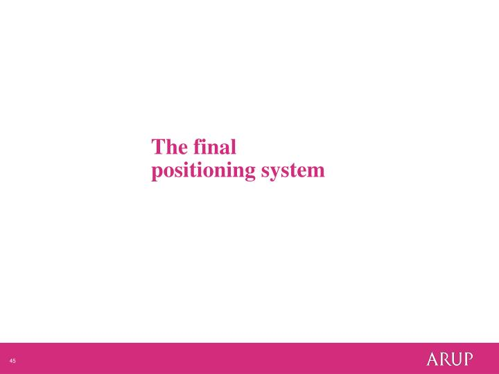 The final positioning system