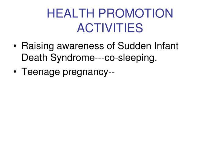 HEALTH PROMOTION ACTIVITIES