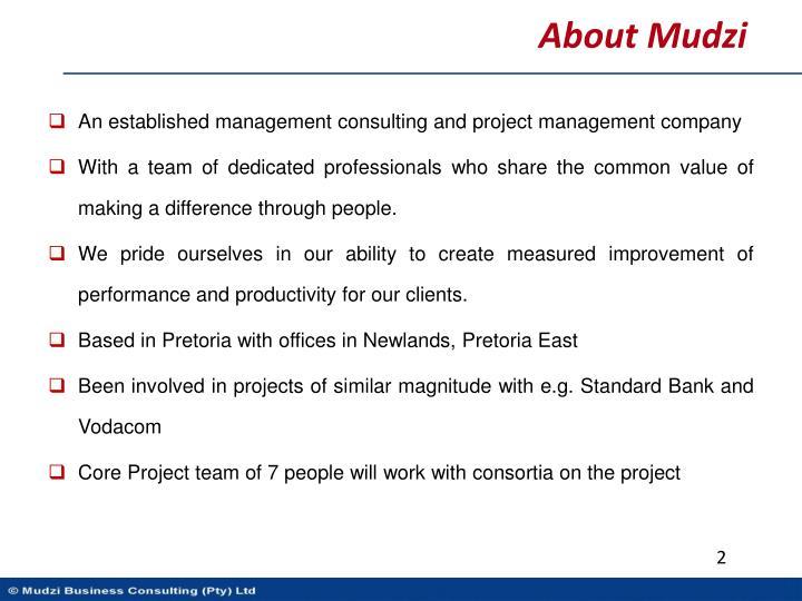About Mudzi
