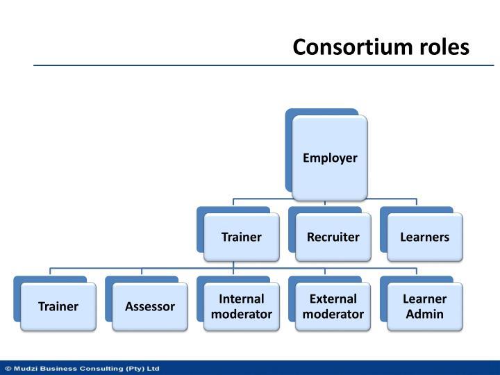 Consortium roles