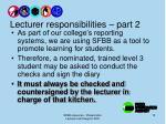 lecturer responsibilities part 2