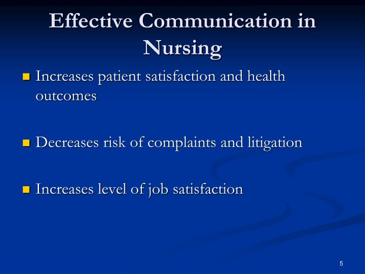 Effective Communication in Nursing