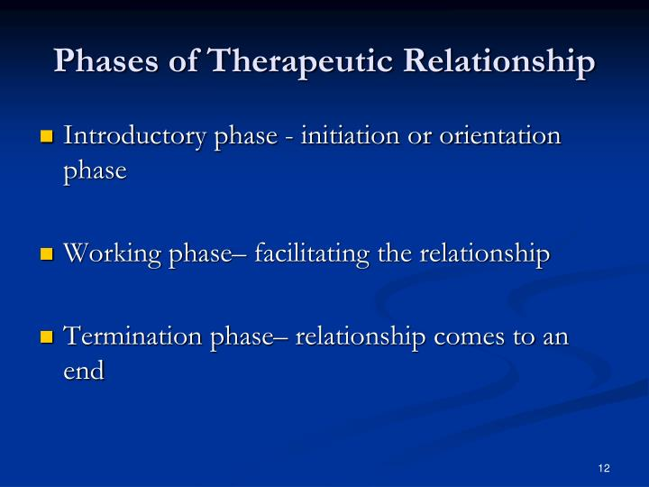 Phases of Therapeutic Relationship
