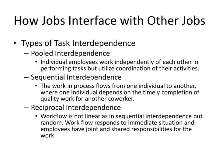 How Jobs Interface with Other Jobs