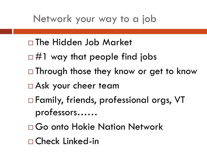 Network your way to a job