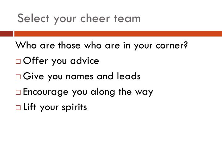 Select your cheer team