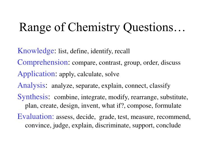 questions on chemistry Explore timing and format for the ap chemistry exam, and review sample questions, scoring guidelines, and sample student responses.