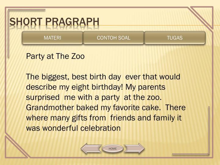 SHORT PRAGRAPH