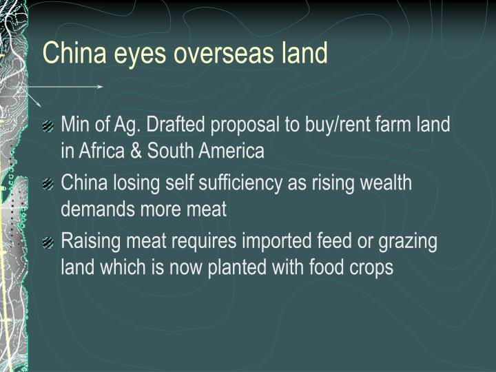 China eyes overseas land