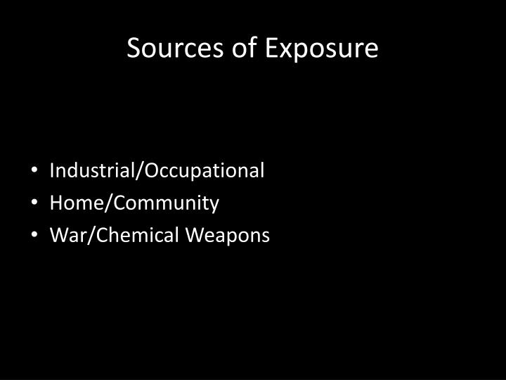 Sources of Exposure