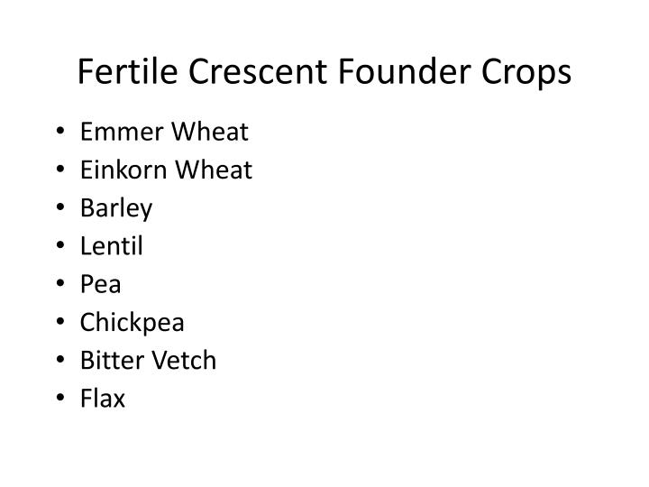 Fertile Crescent Founder Crops