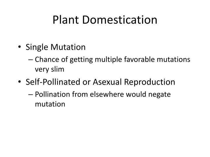 Plant Domestication