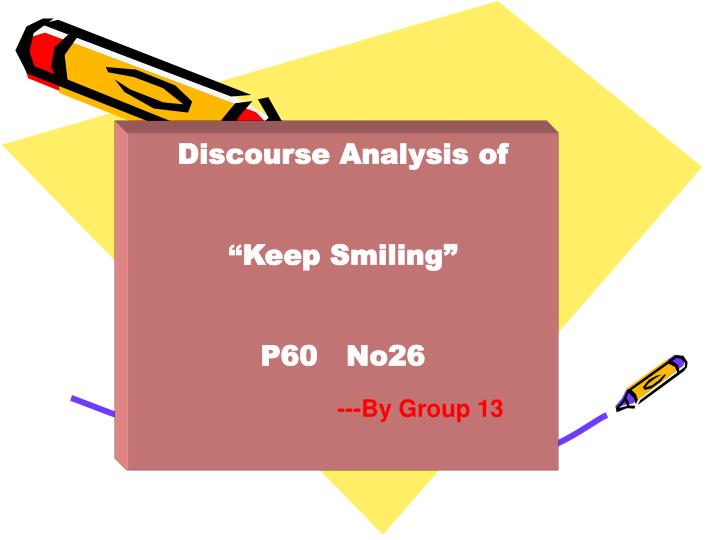 Discourse Analysis of