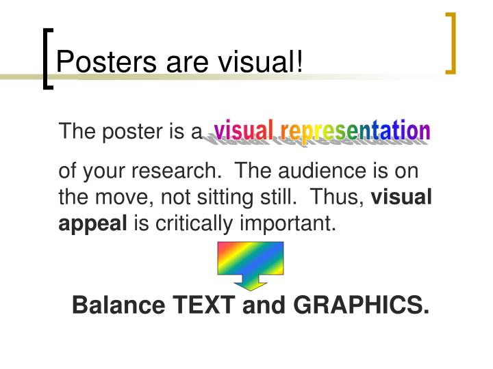 Posters are visual!