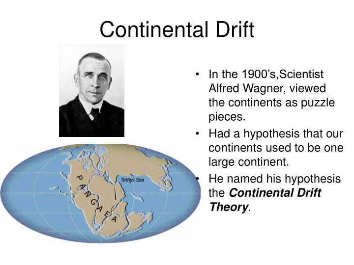 In the 1900's,Scientist Alfred Wagner, viewed the continents as puzzle pieces.
