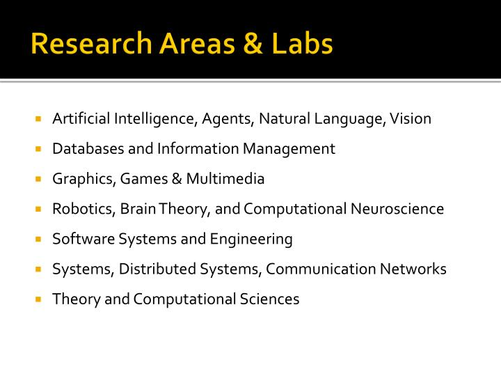 Research Areas & Labs