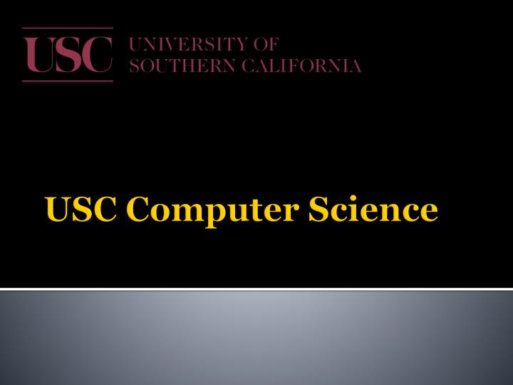 USC Computer Science