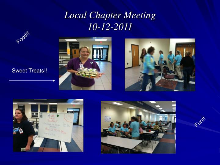 Local chapter meeting 10 12 2011