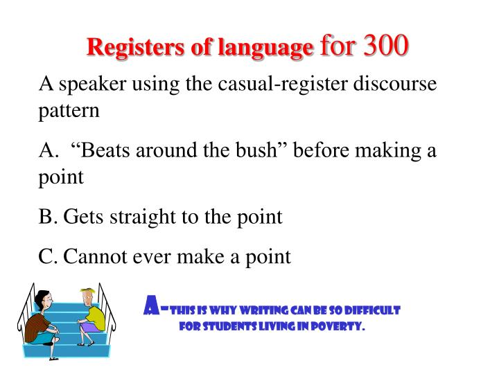 Registers of language