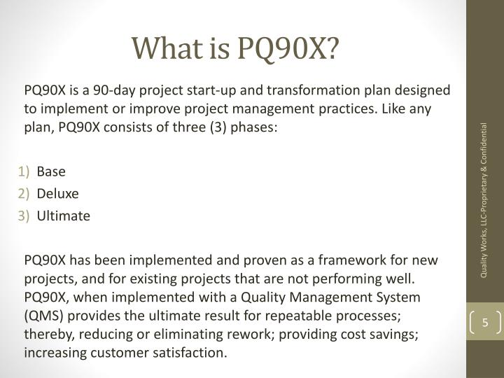 What is PQ90X?