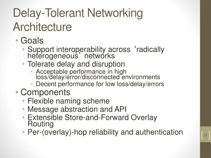 Delay-Tolerant Networking Architecture