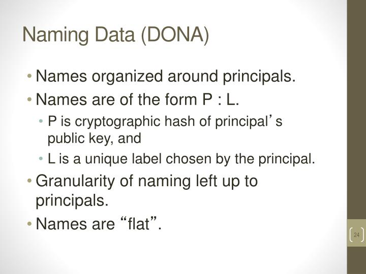 Naming Data (DONA)