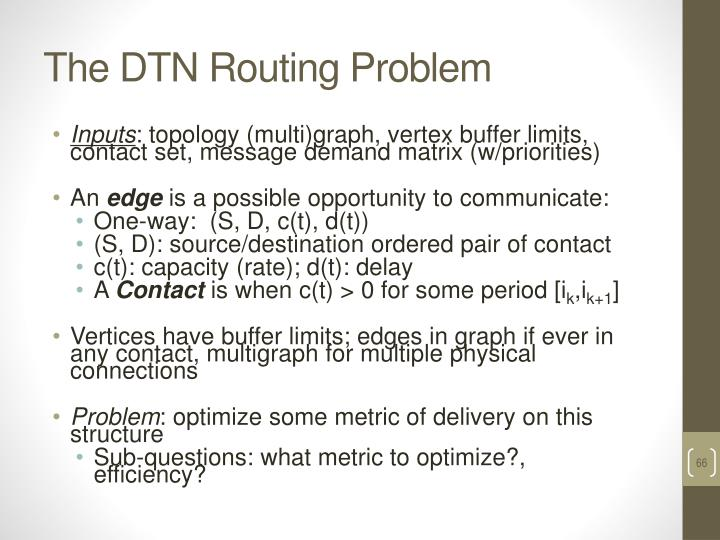The DTN Routing Problem