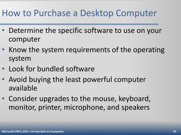 How to Purchase a Desktop Computer