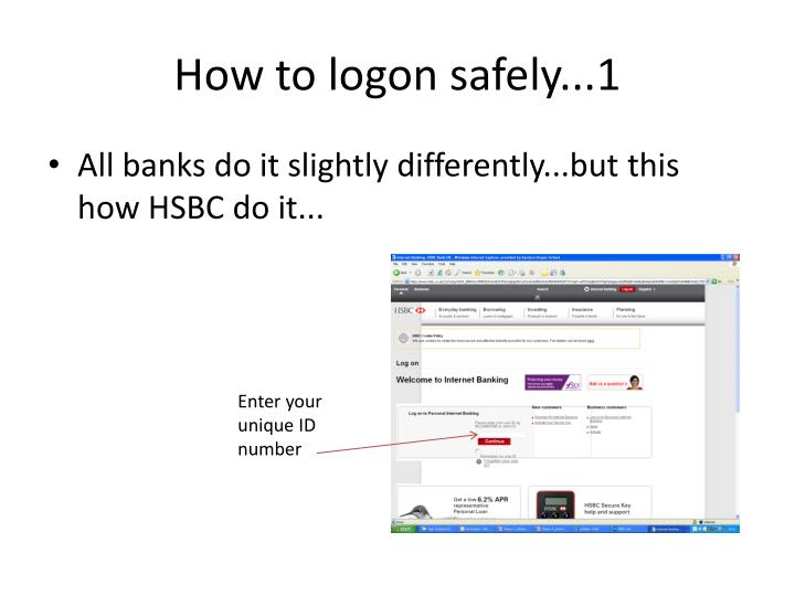 How to logon safely...1