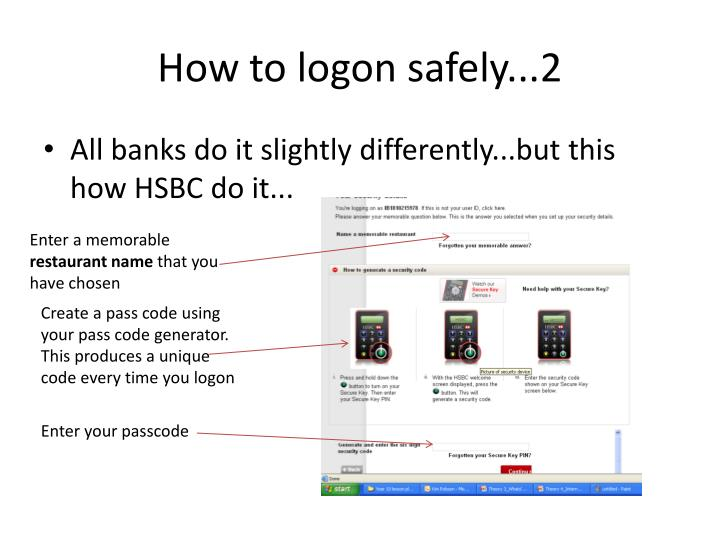How to logon safely...2