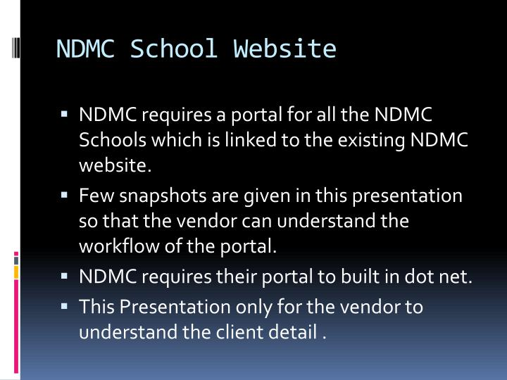 Ndmc school website
