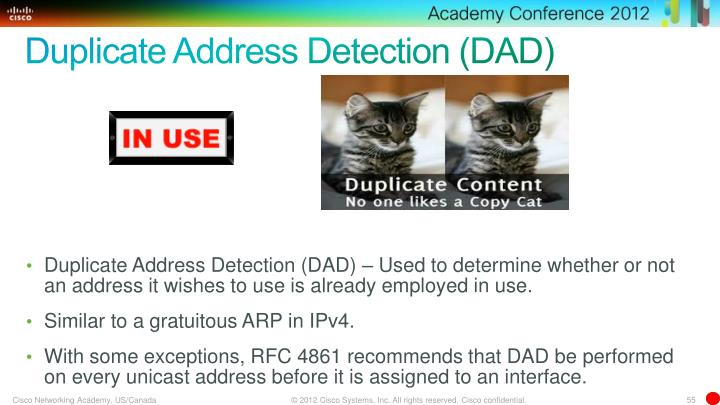 Duplicate Address Detection (DAD)
