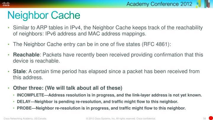 Neighbor Cache