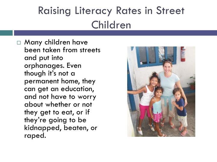Raising Literacy Rates in Street Children